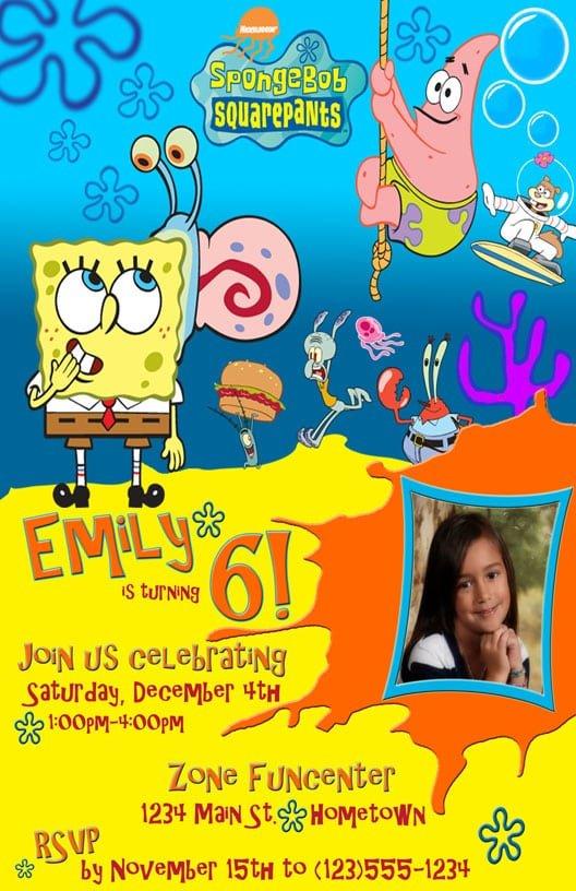 Free Spongebob Birthday Invitation Templates
