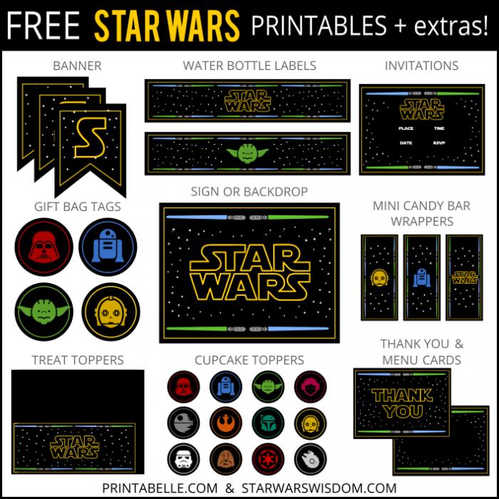 Free Star Wars Invitation Printables