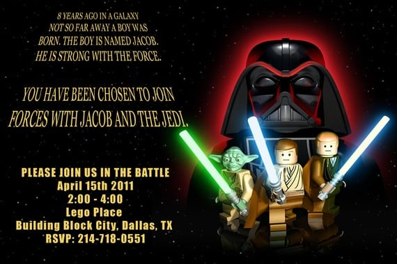 Free Star Wars Party Invitations Print