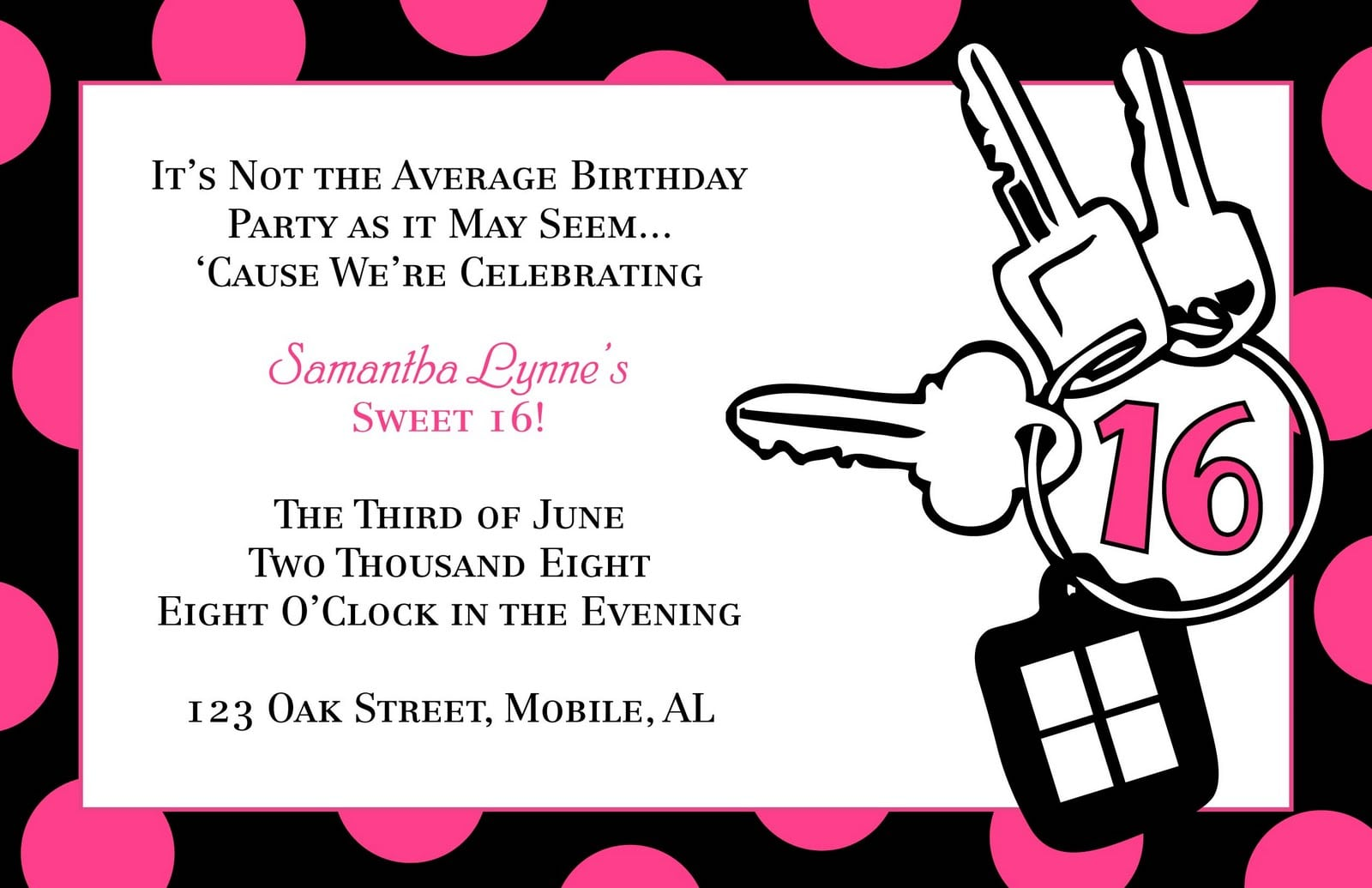 Sweet Sixteen Invitation Templates | ctsfashion.com