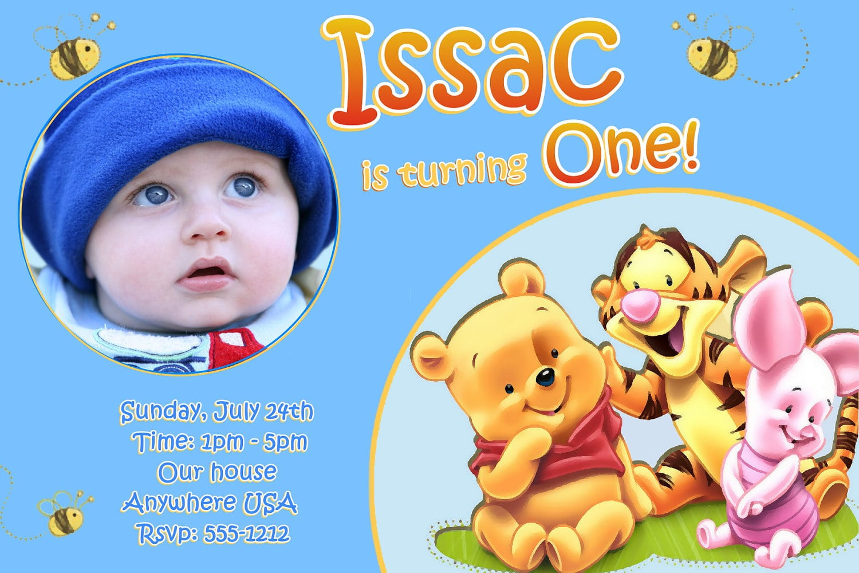 Free Winnie The Pooh Invitation Template