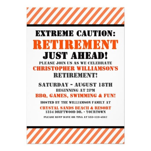 Funny Retirement Party Invitation Ideas