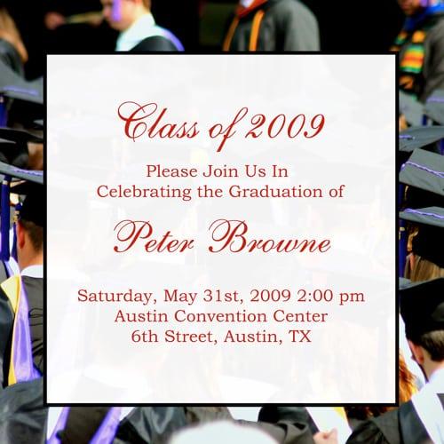 Graduation Invitation Example Text