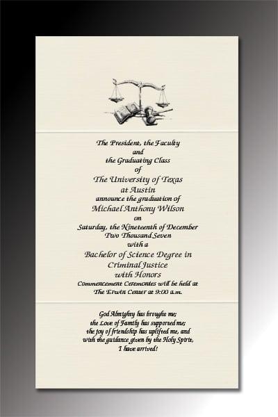 Graduation Invitation Text