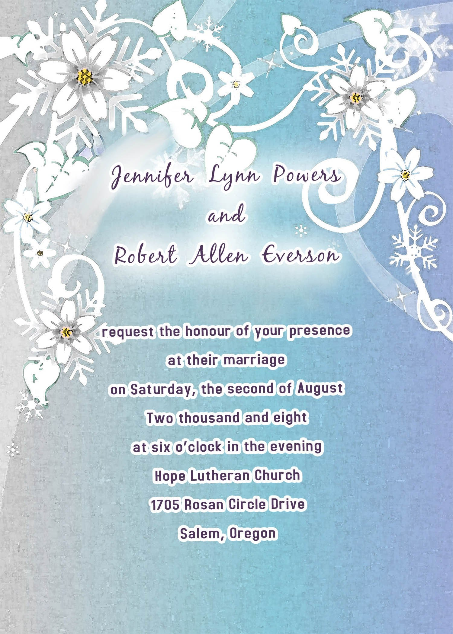 Hallmark Wedding Invitation Template