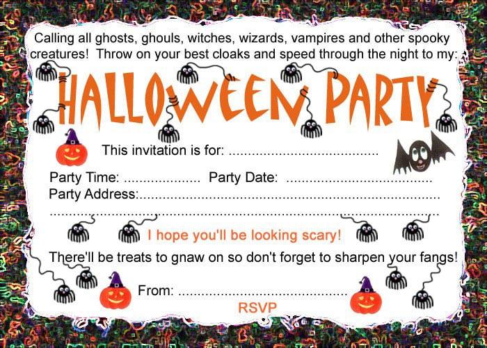 Halloween Birthday Invitation Templates Free