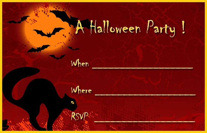 download halloween party invitation template free