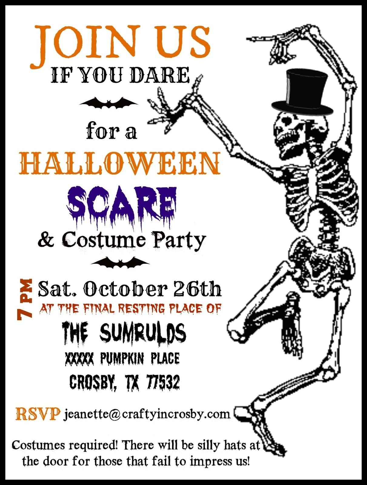 Halloween Party Invitation Template Free
