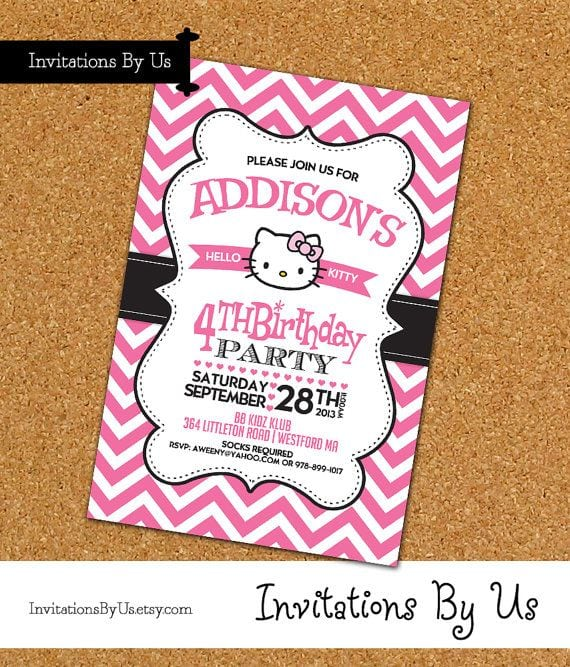 Hello kitty birthday invitation free template filmwisefo Image collections