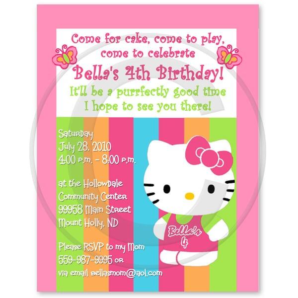 hello kitty birthday invitation wording Josemulinohouseco