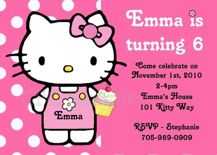 Hello Kitty Birthday Invite Free Printable