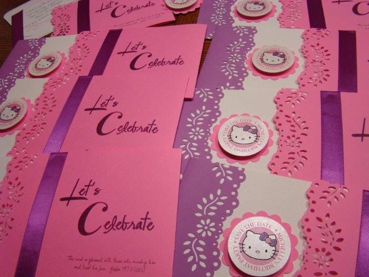 Hello Kitty Invitation For Parties