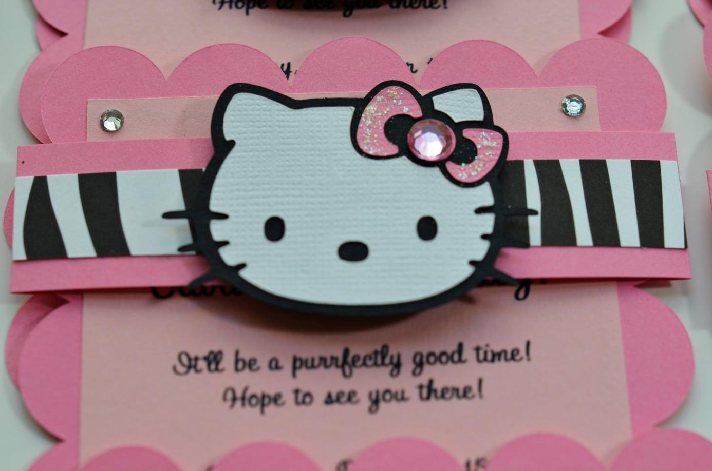 Hello Kitty Party Invitation Word