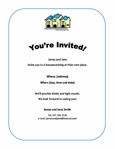 Housewarming Party Invitation Free Template Download