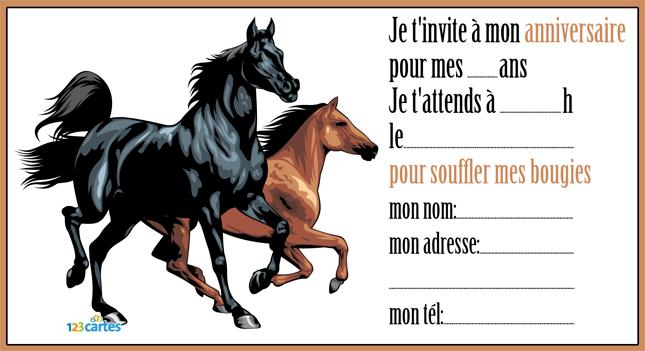 Invitation Anniversaire Cheval Gratuite   Imprimer