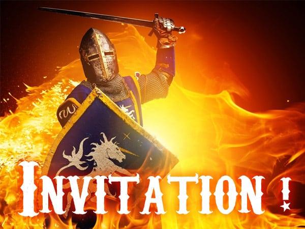 Invitation Anniversaire Chevalier Gratuite   Imprimer