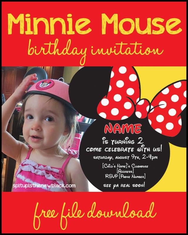 Invitation Birthday Minnie