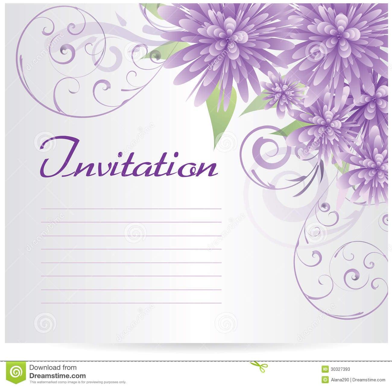 Wedding Invitation Templates Blank: Invitation Blank Template