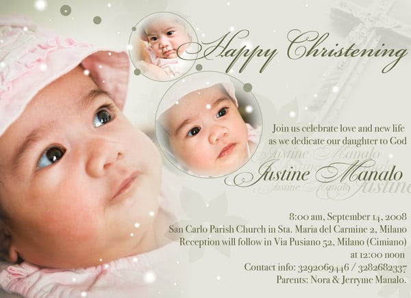 Invitation Card For Baptism Maker
