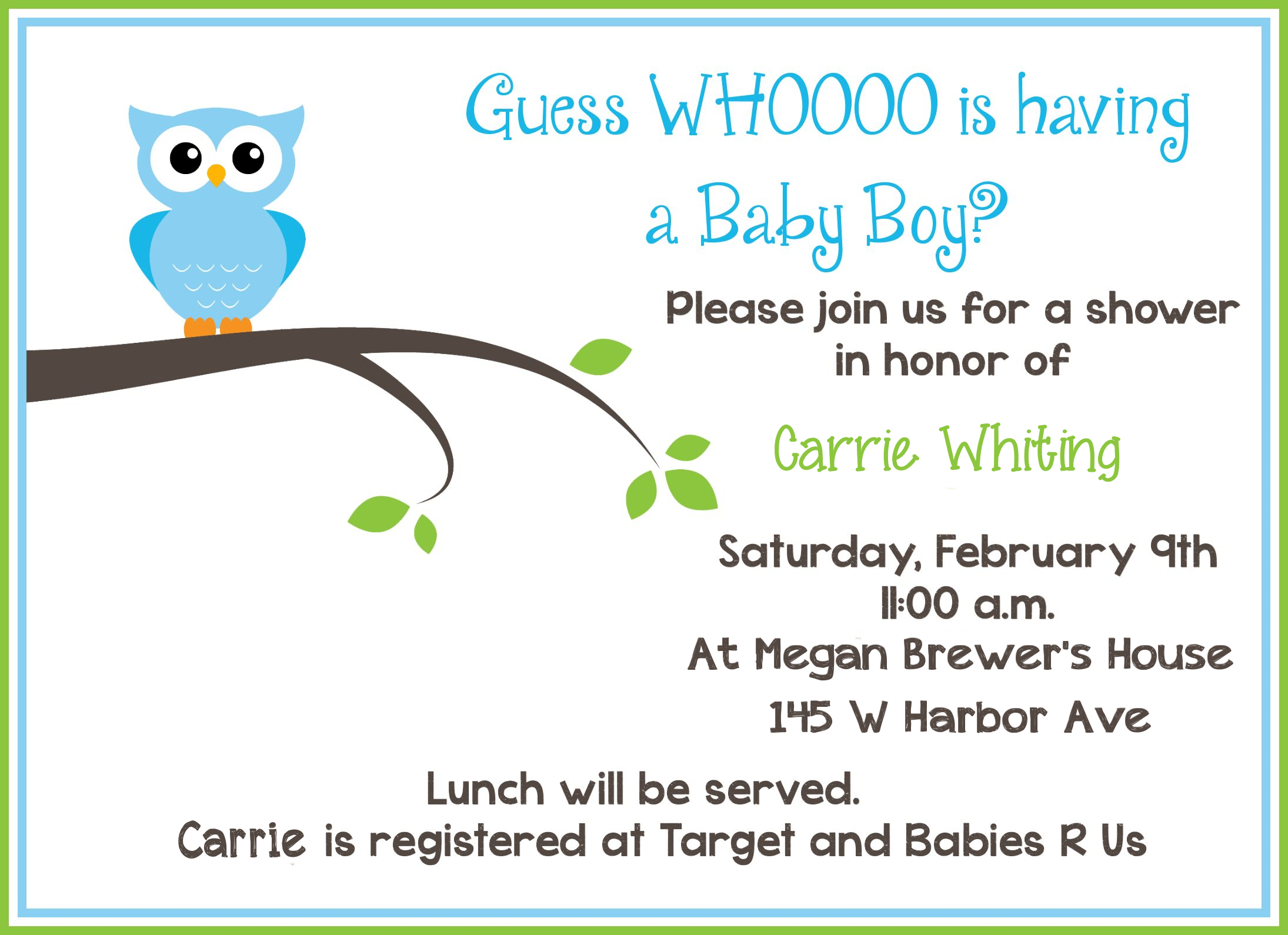 Invitation Cards Baby Shower Free