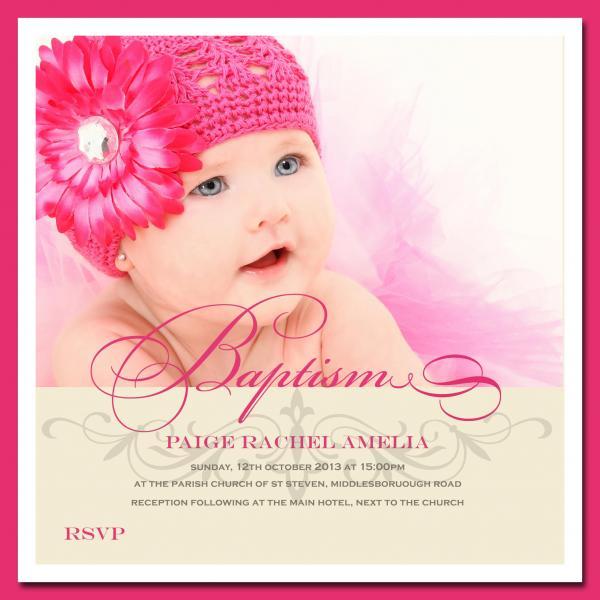 Invitation For Christening Baby Girl