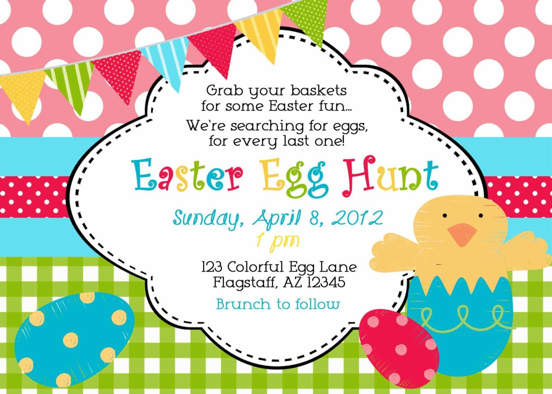 Invitation For Easter Hunt