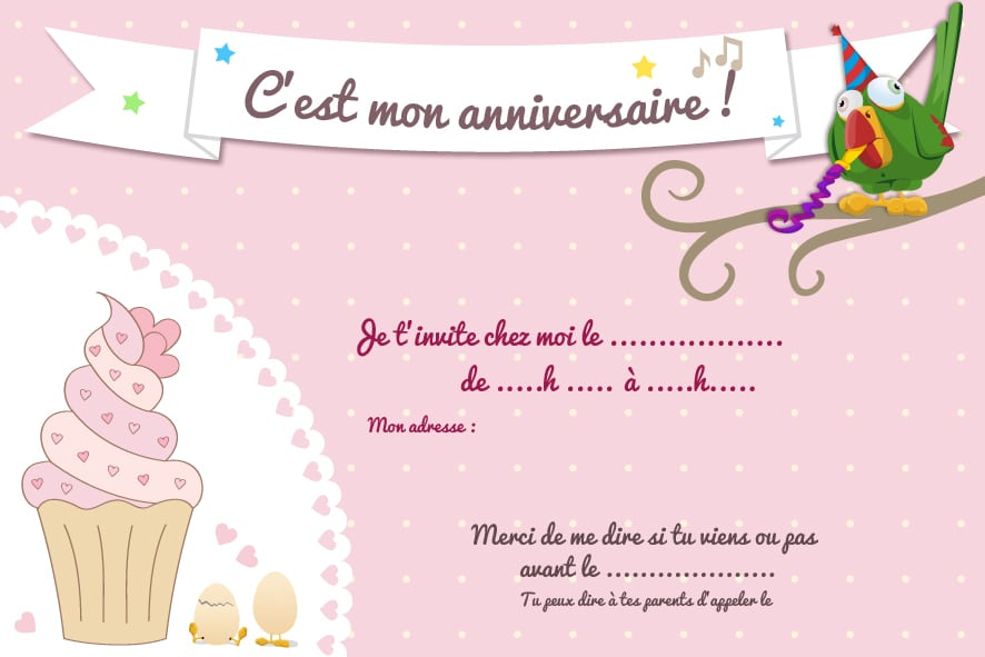 invitation gratuite anniversaire. Black Bedroom Furniture Sets. Home Design Ideas