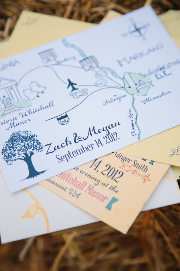 Invitation Map Ideas