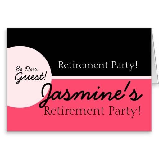 Invitation Retirement Greeting Card