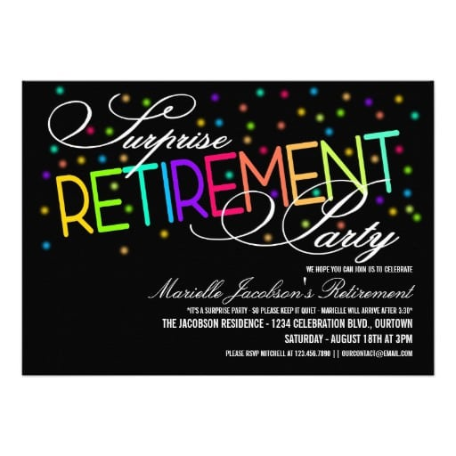 Invitation To A Surprise Retirement Party