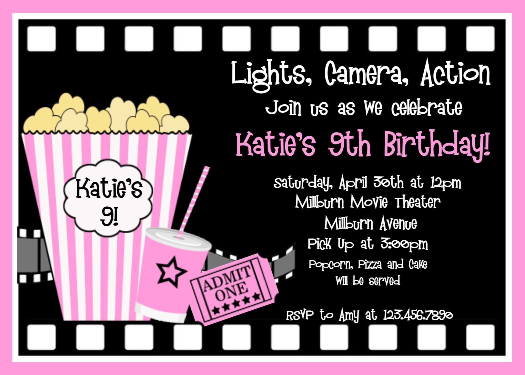 Kids Movie Party Invitation Template