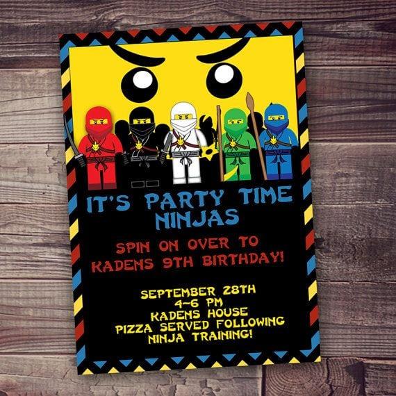 Lego Ninjago Invitations Etsy