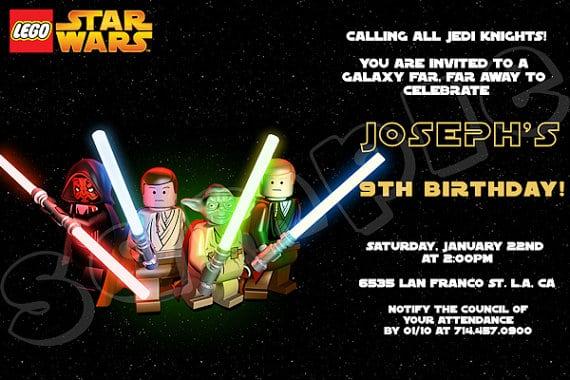 Lego Star Wars Invitation Template Free