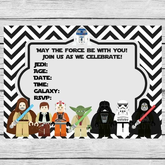 Lego Star Wars Party Invitations Download