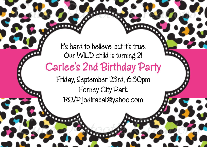 Leopard Print Birthday Invitation Template