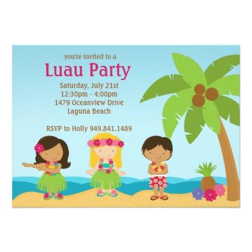 luau invitation birthday