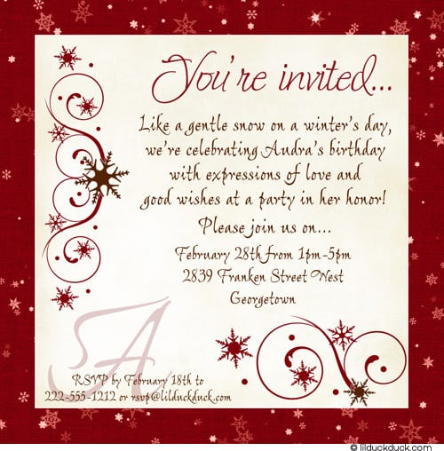 Lunch Party Invitation Email Template – 18th Invitation Templates
