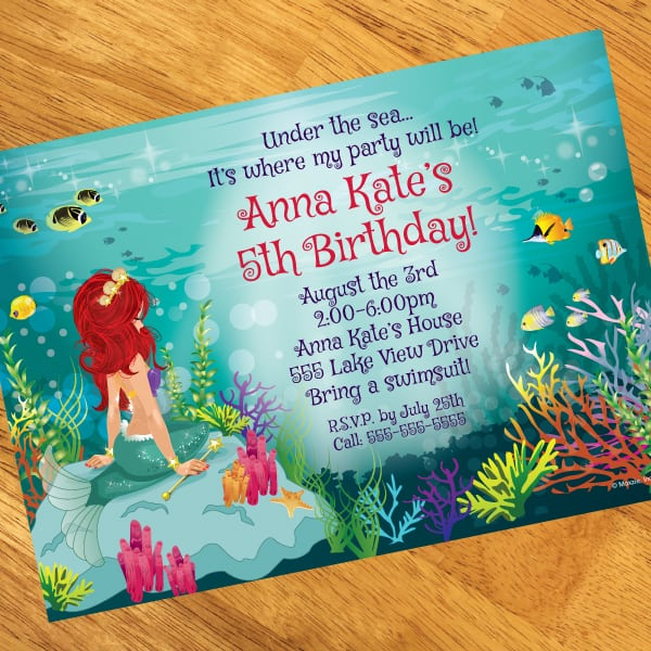Mermaid Invitation With Photo