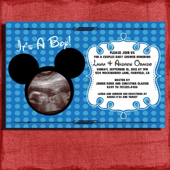 Mickey Mouse Baby Shower Invitation Template