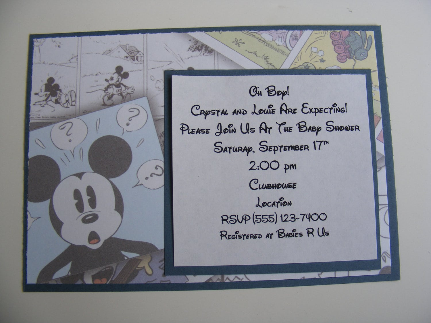 Mickey Mouse Baby Shower Invitations For A Boy