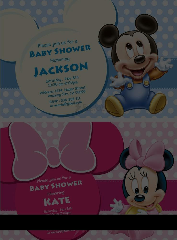 Mickey Mouse Baby Shower Invitations Party City