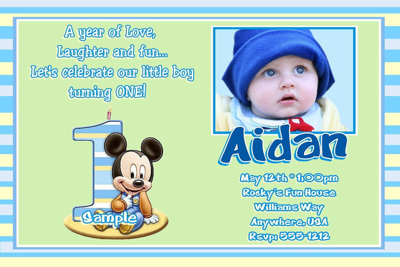 Mickey Mouse Birthday Invitation Wording Samples