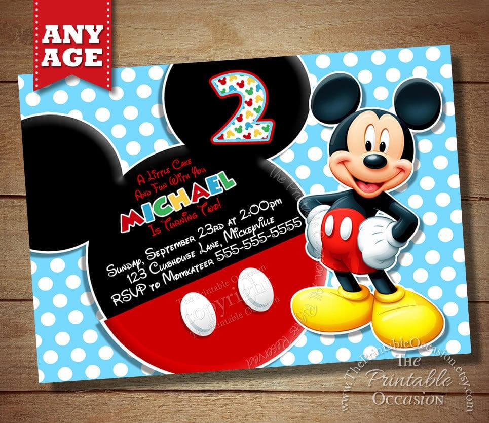 mickey birthday invitation free