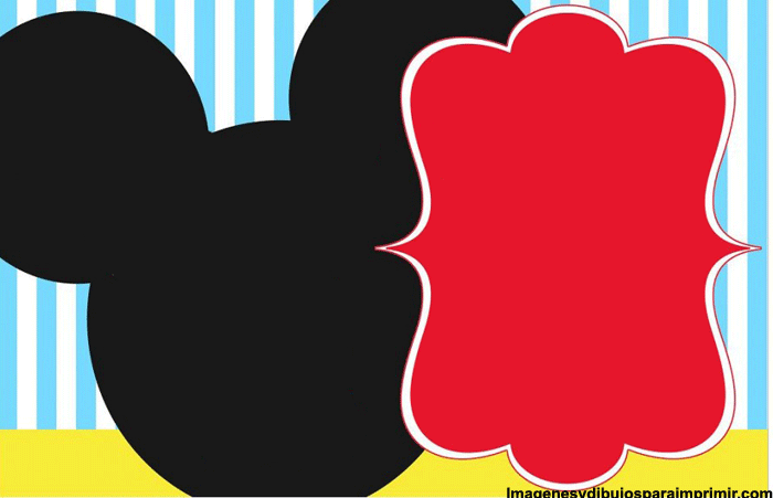 Free Mickey Mouse Template For Invitation orderecigsjuiceinfo – Mickey Mouse Invitation Template