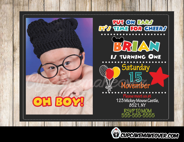 Mickey Mouse Clubhouse Invitations Personalized