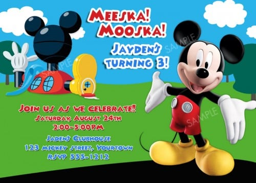Mickey Mouse Clubhouse Printable Birthday Invitation