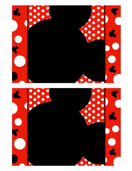 Mickey Mouse Invitation Blank Template