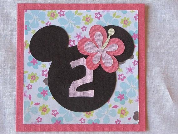 Minnie Mouse Luau Invitation
