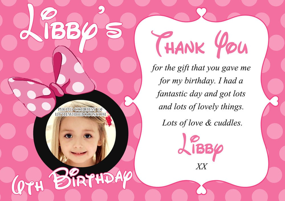 Minnie Mouse Personalised Birthday Invitations Uk
