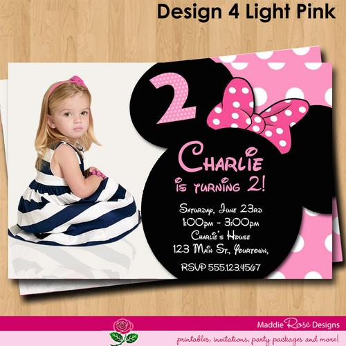 Minnie Mouse Personalized Birthday Invitations Free